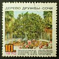 The Soviet Union 1970 CPA 3868 stamp (Friendship Tree, Sochi with label) cancelled large resolution.jpg