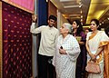 The Union Minister for Culture, Smt. Chandresh Kumari Katoch going around the 'Resurgence'- an Exhibition of Classic Collection of Indian Embroideries, organized by IGNCA, in New Delhi on September 02, 2013.jpg
