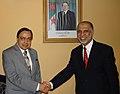 The Union Minister for Petroleum and Natural Gas, Shri Murli Deora meeting with the Prime Minister of Algeria, Mr. Abdelaziz Belkhadem, in Algiers (Algeria) on April 22, 2007.jpg