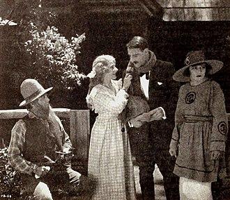 Fred Malatesta - Harvey Clark, Pauline Curley, Fred Malatesta, and Mary Thurman in The Valley of Tomorrow (1920)