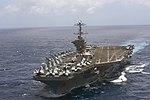 The aircraft carrier USS Harry S. Truman (CVN 75) transits the Atlantic Ocean. (27626970263).jpg