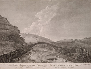 The great bridge over the Taaffe, in south Wales
