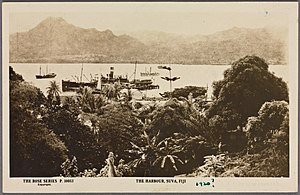 The harbour, Suva, Fiji (NYPL Hades-2359163-4043519)