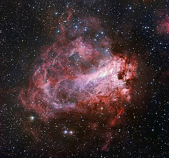 Omega Nebula - Image: The star formation region Messier 17