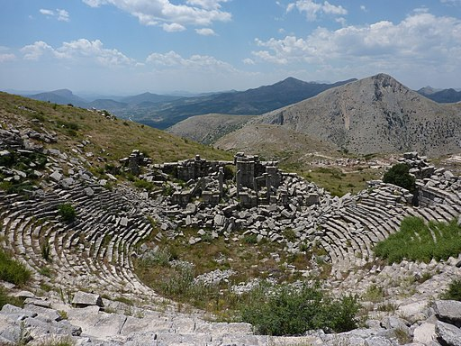 Theatre at Sagalassos - Anastylosis Project in Background - panoramio