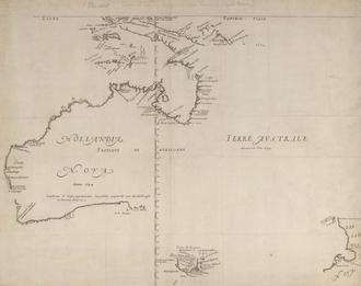 Melchisédech Thévenot - Hollandia Nova, 1659 map prepared by Joan Blaeu