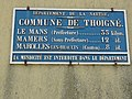 Thoigné (Sarthe) plaque de cocher.jpg
