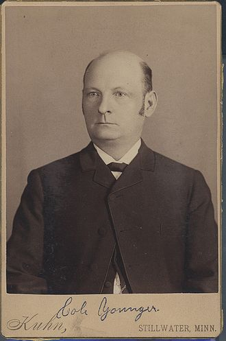 Cole Younger - Portrait of Cole Younger taken when he was a prisoner at the Minnesota State Prison, c. 1889