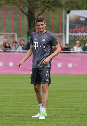 Thomas Müller - Müller training with Bayern Munich in 2017
