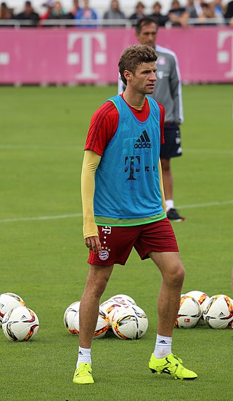 Thomas Müller - Müller at training session in 2015