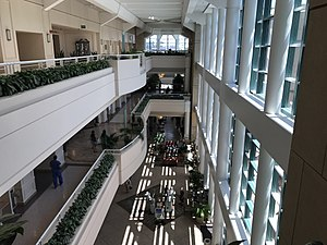Jacobs Medical Center - Thornton Pavilion atrium