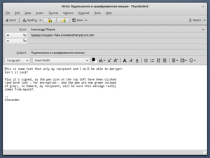 Signed and encrypted email with Mozilla Thunderbird and Enigmail