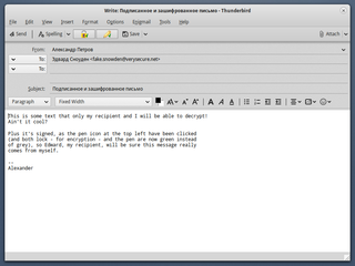 Enigmail OpenPGP data encryption and decryption extension for Mozilla Thunderbird and the SeaMonkey internet suite