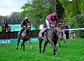 Tidal Bay stalks Roalco de Farges on his way to winning the bet365 Gold Cup (7006347766).jpg