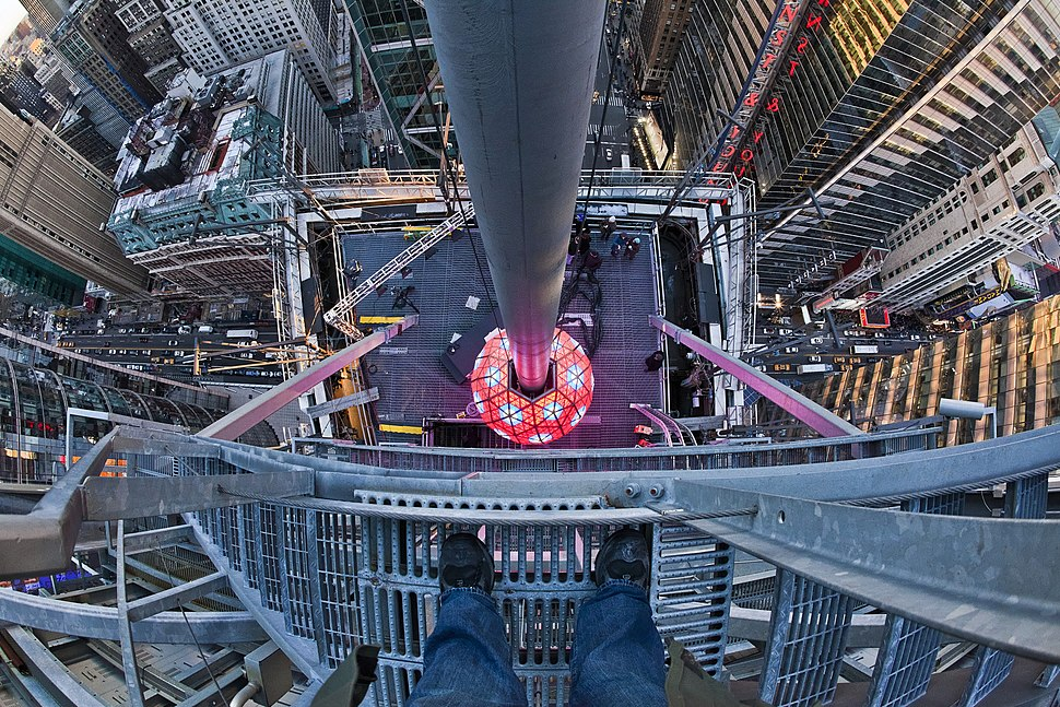 Times Square Ball from above