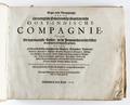 """Titelblad till bok om """"Ostindiska kompaniet"""" från 1646 - Skoklosters slott - 93273.tif"""