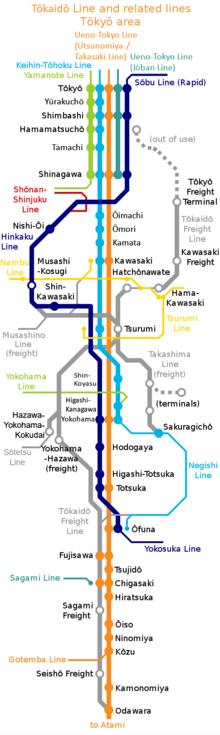Yokohama Subway Map.Tōkaidō Main Line Wikipedia