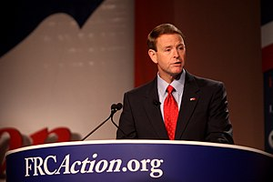 Tony Perkins (politician) - Perkins speaking at the annual Values Voter Summit in October 2011.
