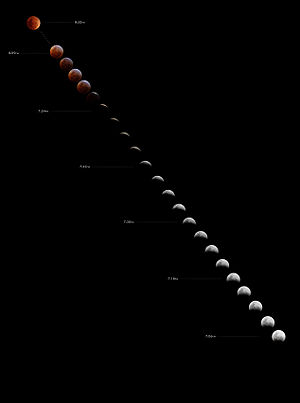 August 2007 lunar eclipse - Image: Total lunar eclipse august 28 2007 edit