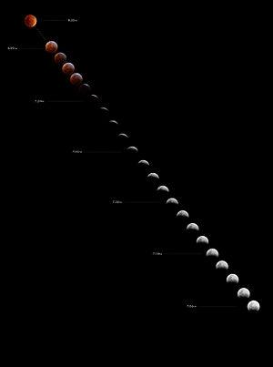 Total lunar eclipse, August 28 2007 as seen fr...