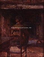 Toulouse-Lautrec - CELEYRAN, CHEMINEE DANS LA CUISINE, 1880, MTL.43.jpg