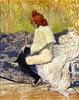 Toulouse-Lautrec - Red-Headed Woman Sitting on the Couch (Justine Dieuhl), 1897.jpg