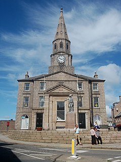 Peterhead Town House Municipal Building in Scotland