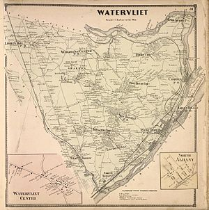 Watervliet (town), New York - Town of Watervliet in 1866