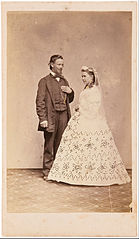 Townsend Duryea - Studio portrait of standing bride and groom - Google Art Project.jpg
