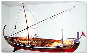 Traditional fishing boat - Dhonis are the traditional fishing boat of the Maldives.