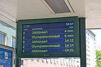Tram departures display in Helsinki.JPG