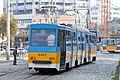 Tram in Sofia near Russian monument 014.jpg