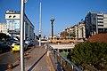 Tram in Sofia near Sofia statue 2012 PD 023.jpg