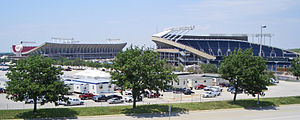 Sports in Kansas City - Truman Sports Complex, with Arrowhead and Kaufmann Stadiums, opened in Kansas City, Missouri in the 1972 and 1973 sports seasons.