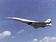 Tu-144LL in flight