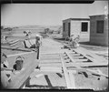 Tule Lake Relocation Center, Newell, California. Building first house at Tule Lake War Relocation A . . . - NARA - 536196.tif