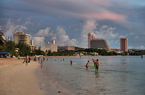 Territories of the United States - Tumon Beach in Guam.