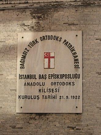 Autocephalous Turkish Orthodox Patriarchate - Image: Turcortodoxo