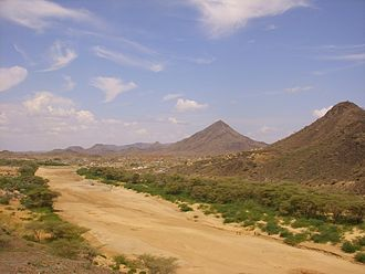 Turkwel River - Dry riverbed of the Turkwel river, just outside Lodwar town in Turkana County, Kenya