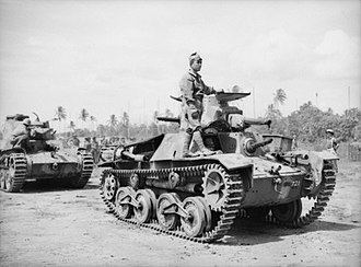 Light tank - Type 95 Ha-Go tanks in New Britain following the Japanese surrender