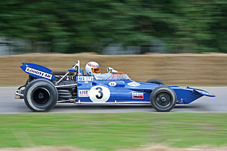 Tyrrell Racing - Tyrrell's first F1 car, the 001, being demonstrated at the 2008 Goodwood Festival of Speed.