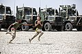 U.S. Marines with Combat Logistics Company 28, Combat Logistics Regiment 2 play flag football during their company barbecue at Camp Dwyer in Helmand province, Afghanistan, April 3, 2013 130403-M-KS710-028.jpg