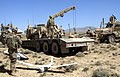 U.S. Soldiers with the 591st Engineer Company prepare to launch an unmanned aerial vehicle to assist in security efforts while recovering a downed vehicle in Spin Boldak district at Kandahar province 130325-A-MX357-591.jpg