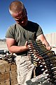 U. S. Marine Lance Cpl. Trevor Woodyard with Combat Logistics Regiment 2, 2nd Marine Logistics Group, counts ammunition at an ammunition holding area during Enhanced Mojave Viper (EMV), on Marine Corps Air 120912-M-KS710-012.jpg