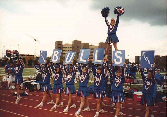 fileub bulls football cheerleaders at ub october 1991