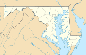 Map showing the location of Antietam National Battlefield