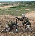 USMC Mortar support at Saber Strike 2012 (7384707154).jpg