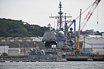 USS Antietam (CG-54) right rear view at U.S. Fleet Activities Yokosuka April 30, 2018.jpg