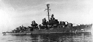 USS Newcomb (DD-586), circa in 1943 (NH 85822)