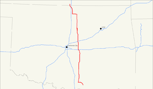 U.S. Route 177 - Image: US 177 map